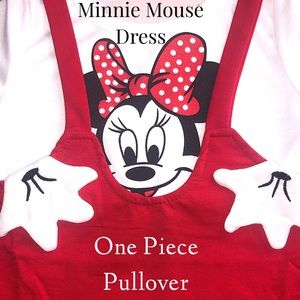 Minnie Mouse Red White Black Dress NWT